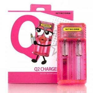 Punjač baterija NITECORE Q2, pink