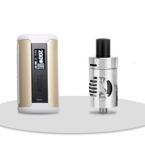 E-cigareta ASPIRE Speeder mod, gold+ E-filter KANGERTECH CLtank 2ml, silver