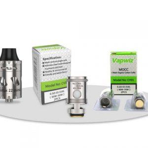 E-filter VAPWIZ Pollux 22 mini, silver+ grijači gratis