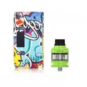 E-cigareta VAPOR STORM Puma, blue/yellow+ Tank JOYETECH Ello mini, greenery
