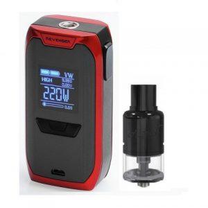 E-cigareta VAPORESSO Revenger mod,red+Tank GEEKVAPE Avocado 24 RDTA, black