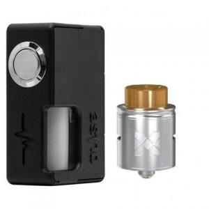 E-cigareta VANDYVAPE Pulse Box mod,black+Tank VANDYVAPE MESH RDA,silver