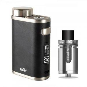 E-cigareta ELEAF iStick Pico 21700 mod,black+Tank ASPIRE Cleito EXO,silver